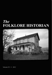 Cover of The Folklore Historian, volume 29