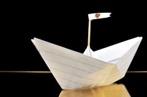 Paper pirate ship